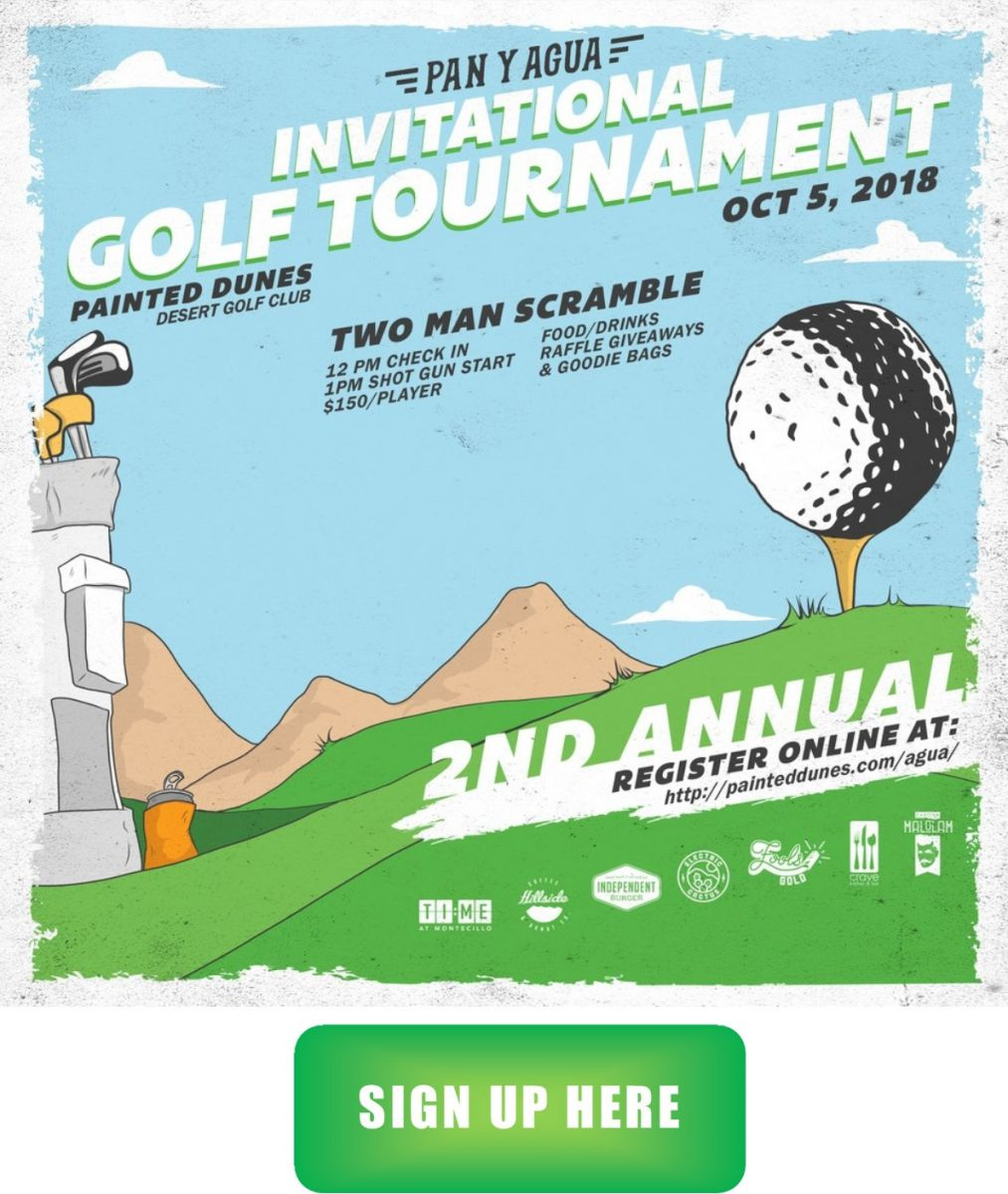 Pan y Agua Invitational Golf Tournament flyer